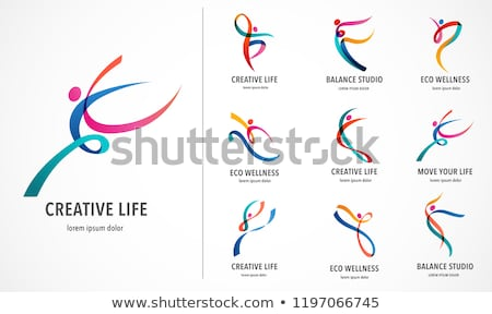 abstract fitness silhouette stock photo © djdarkflower