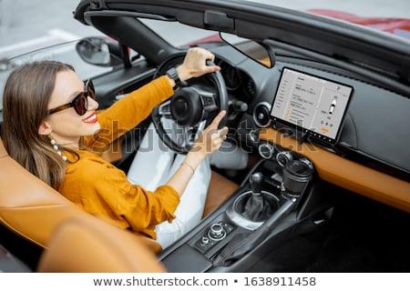 вождения Спортивный автомобиль красивой автомобилей Сток-фото © dashapetrenko