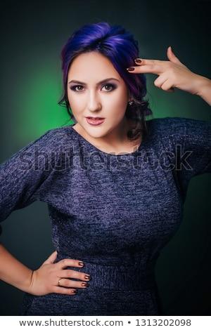 Attractive woman in black dress, goth , studio shot Stock photo © pxhidalgo