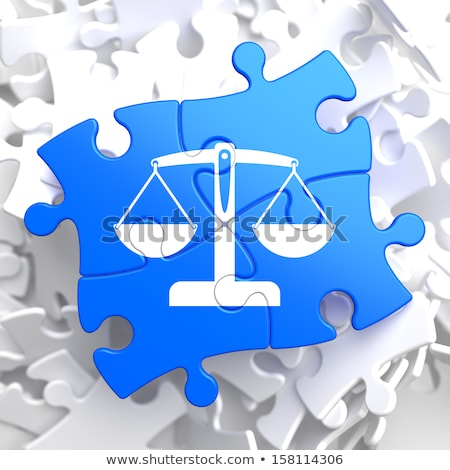 complaint concept on blue puzzle stock photo © tashatuvango