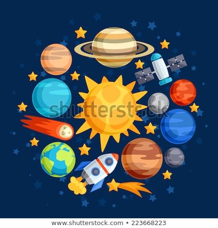 bezoekers · ruimte · computer · gegenereerde · 3d · illustration · aarde - stockfoto © miro3d