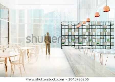 3次元の男 座って スタイリッシュ 椅子 孤立した 白 ストックフォト © Kirill_M