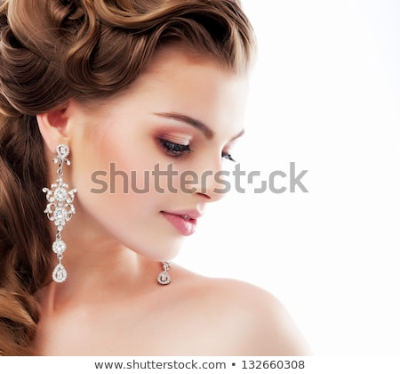 Profile portrait  of delightful bride Stock photo © konradbak