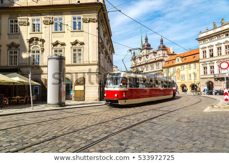 Red tram in Prague, Czech Republic,,, Stock photo © AndreyPopov