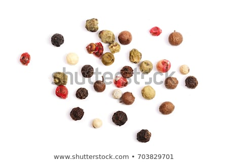 Stock photo: color pepper grains