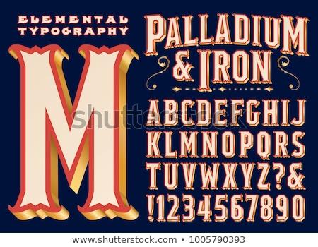 ретро кремом цирка письме Vintage плакат Сток-фото © tintin75