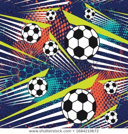 abstract colorful grunge soccer ball stock photo © burakowski