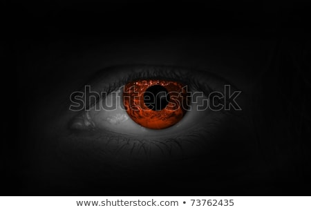 Devil Red Eye at the Sea Stock photo © ankarb