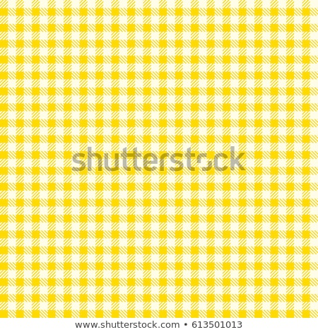 Vintage Yellow Country Checkered Background Stock Photo
