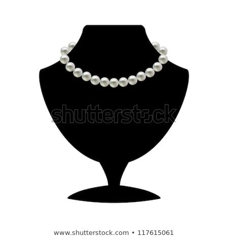 perla · collana · nero · mannequin · isolato · bianco - foto d'archivio © gsermek