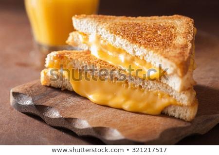Gegrild cheddar kaas sandwich voedsel Stockfoto © MSPhotographic