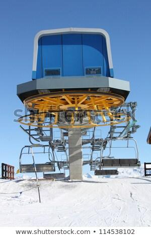 ski · ascenseur · soutien · concrètes · pente - photo stock © janhetman