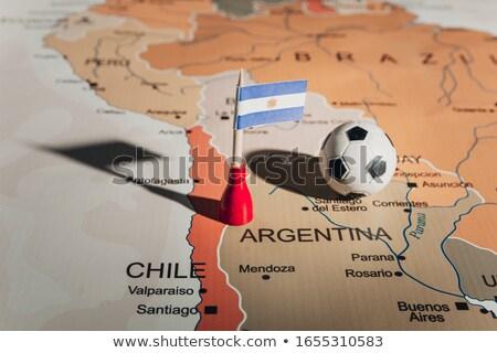 Futball futball labda Argentína zászló 3D Stock fotó © daboost
