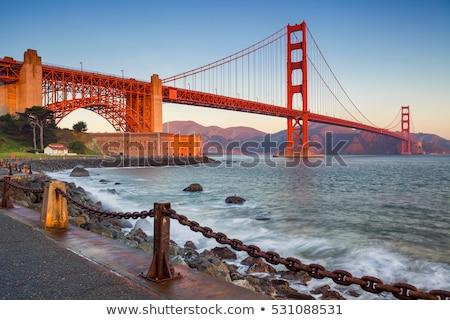 ゴールデンゲートブリッジ 黄昏 フル 橋 市 サンフランシスコ ストックフォト © aspenrock