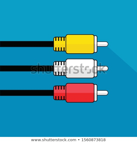 аудио видео кабеля изолированный белый Сток-фото © diabluses