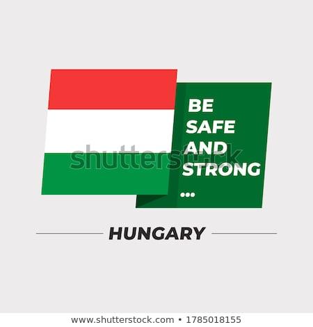 Węgry · europejski · banderą · Pokaż · Unii · żółty - zdjęcia stock © kiddaikiddee