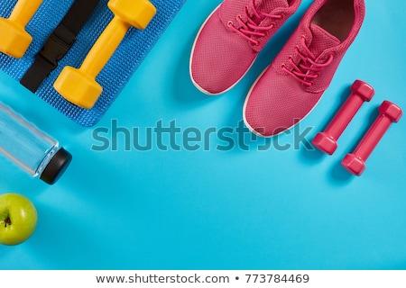 Bras on blue background Stock photo © sognolucido