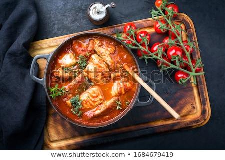 ストックフォト: 魚 · シチュー · サンフランシスコ · 皿 · イタリア料理