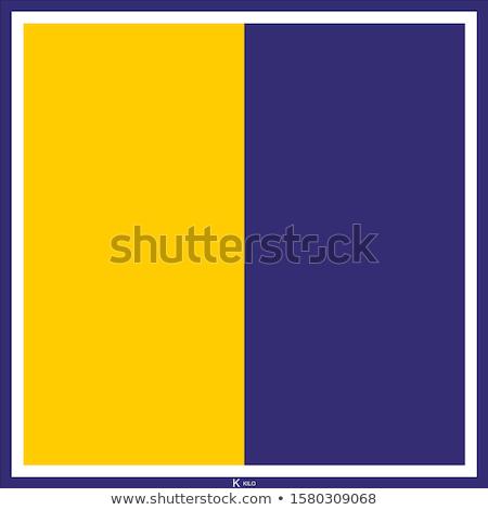Nemzetközi jel zászló zászlók tenger ábécé Stock fotó © tony4urban