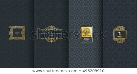 luxury golden card with vintage pattern stock photo © liliwhite