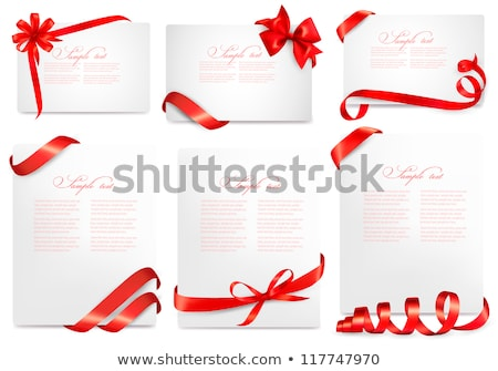 Red ribbon banner on cardboard Stock photo © 5xinc