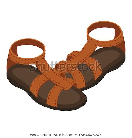 сандалии черно белые дизайна черный белый Сток-фото © lenm