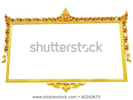 Yakın ahşap pencereler Taylandlı stil tapınak Stok fotoğraf © yanukit