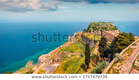 Twierdza widoku wyspa Grecja statków Zdjęcia stock © maxsol7