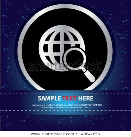 vergrootglas · wereld · aarde · wereldbol · illustratie · groene - stockfoto © mr_vector