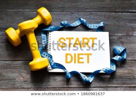 egészséges · szó · írott · zöldségek · friss · zöldségek · paprikák - stock fotó © zerbor