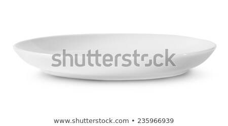 One Isolated White Porcelain Plate Rotated Stock photo © Cipariss