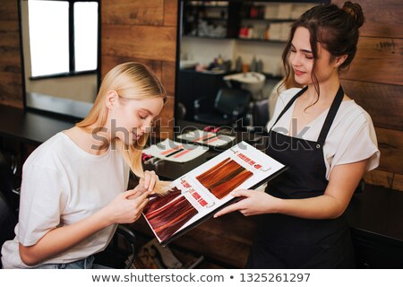 Stock photo: Showing colour choices to client