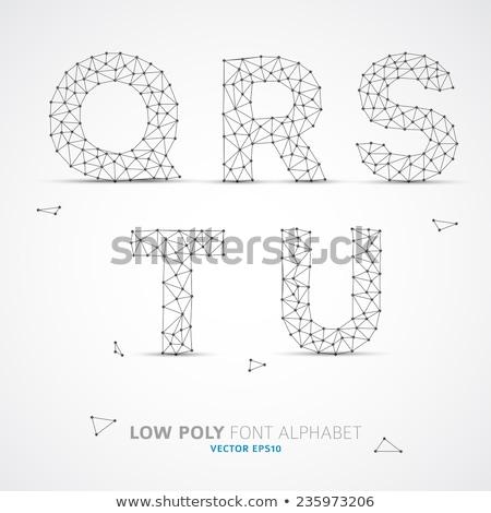 Vector laag alfabet doopvont draad schaduw Stockfoto © orson