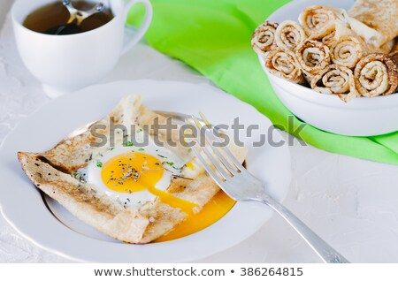 crepe with egg and herbs Stock photo © M-studio