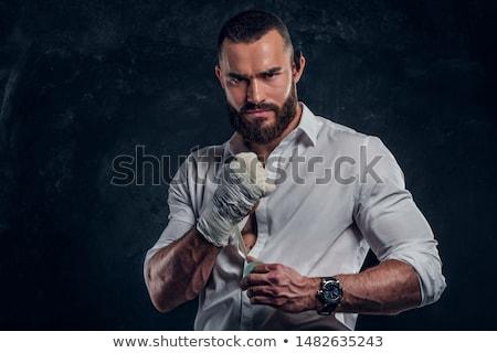 Atraente homem boxe branco Foto stock © vlad_star