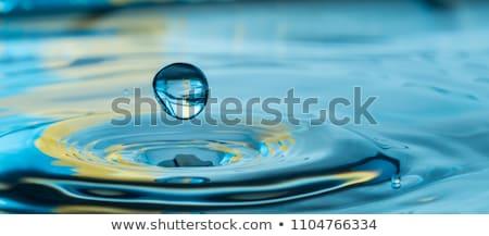 Pureza retrato fresco mulher azul água Foto stock © pressmaster