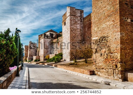 gibralfaro fortress alcazaba de malaga malaga city spain stock photo © amok