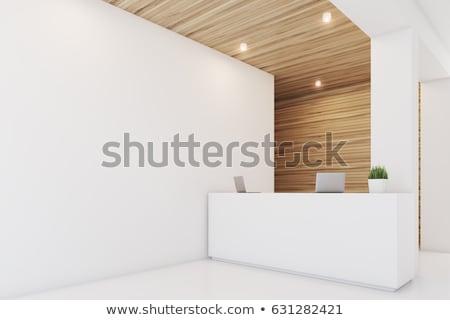 3D · recepció · szoba · renderelt · kép · üzlet · épület - stock fotó © wxin