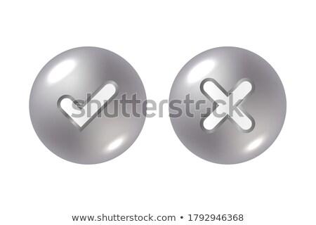 Podpisania srebrny przycisk Internetu projektu krzyż Zdjęcia stock © aliaksandra