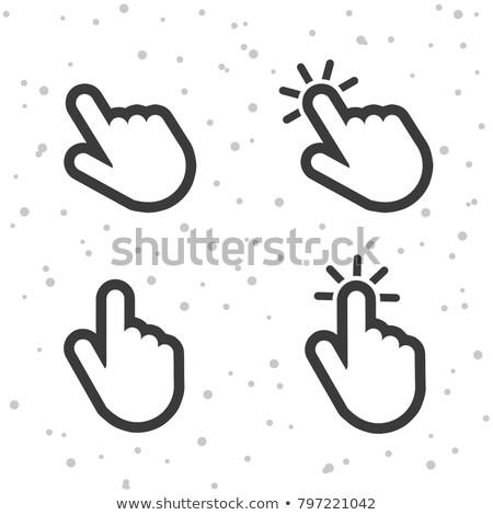 Csap kézmozdulat absztrakt ikon számítógép kéz Stock fotó © tkacchuk