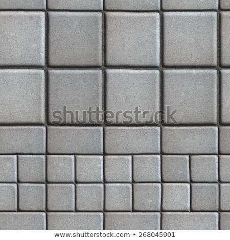 Gray Paving Slabs Lined with Squares of Different Value and Rectangles. Stock photo © tashatuvango