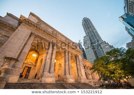 New · York · Manhattan · public · bibliothèque · centre-ville · affaires - photo stock © rmbarricarte