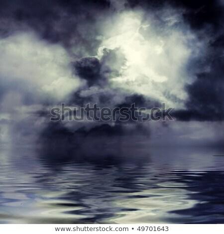 illustrazione · nero · tornado · stormy · cielo · tempesta - foto d'archivio © smeagorl