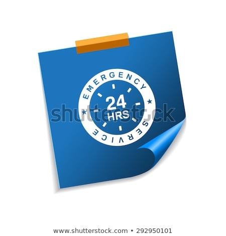 24 サービス 青 付箋 ベクトル アイコン ストックフォト © rizwanali3d