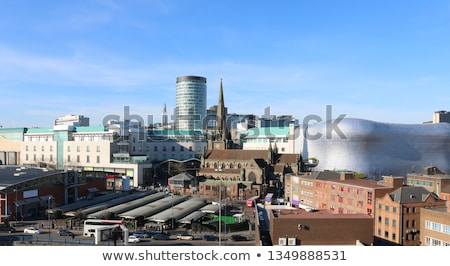 Birmingham városkép vízfesték művészet nyomtatott sziluett Stock fotó © chris2766