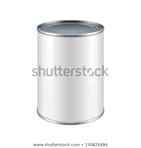 witte · metaal · tin · kan · blikken · uitstekend - stockfoto © netkov1