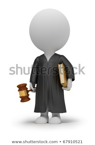 Stock photo: 3d small people - judge