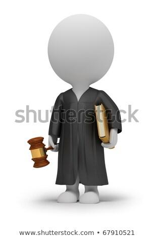 3d small people   judge stock photo © anatolym