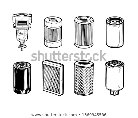 Motor filter, cabin filter and oil filter Stock photo © RuslanOmega