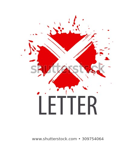 vector logo red tape in the form of the letter x stock photo © butenkow
